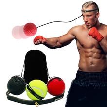 Пробивая Мячи скоростные Мячи боксерский удар Упражнение боевой мяч с головным ободком для тренировка скорости рефлексов боксерский мяч#2p03