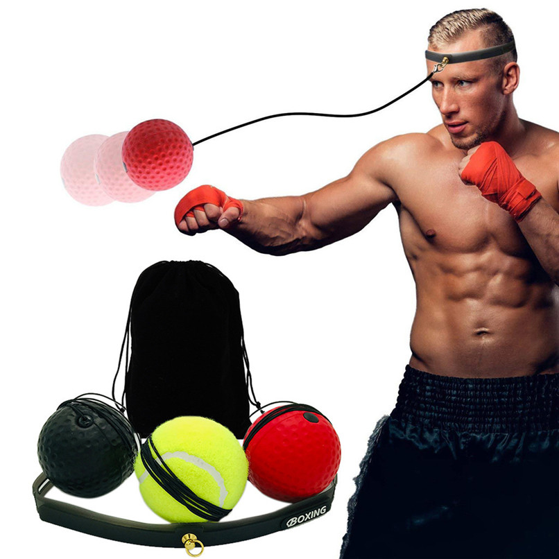 Punching Balls Speed Balls Boxing Punch Exercise <font><b>Fight</b></font> Ball With Head Band For Reflex Speed Training Boxing ball #2p03 image