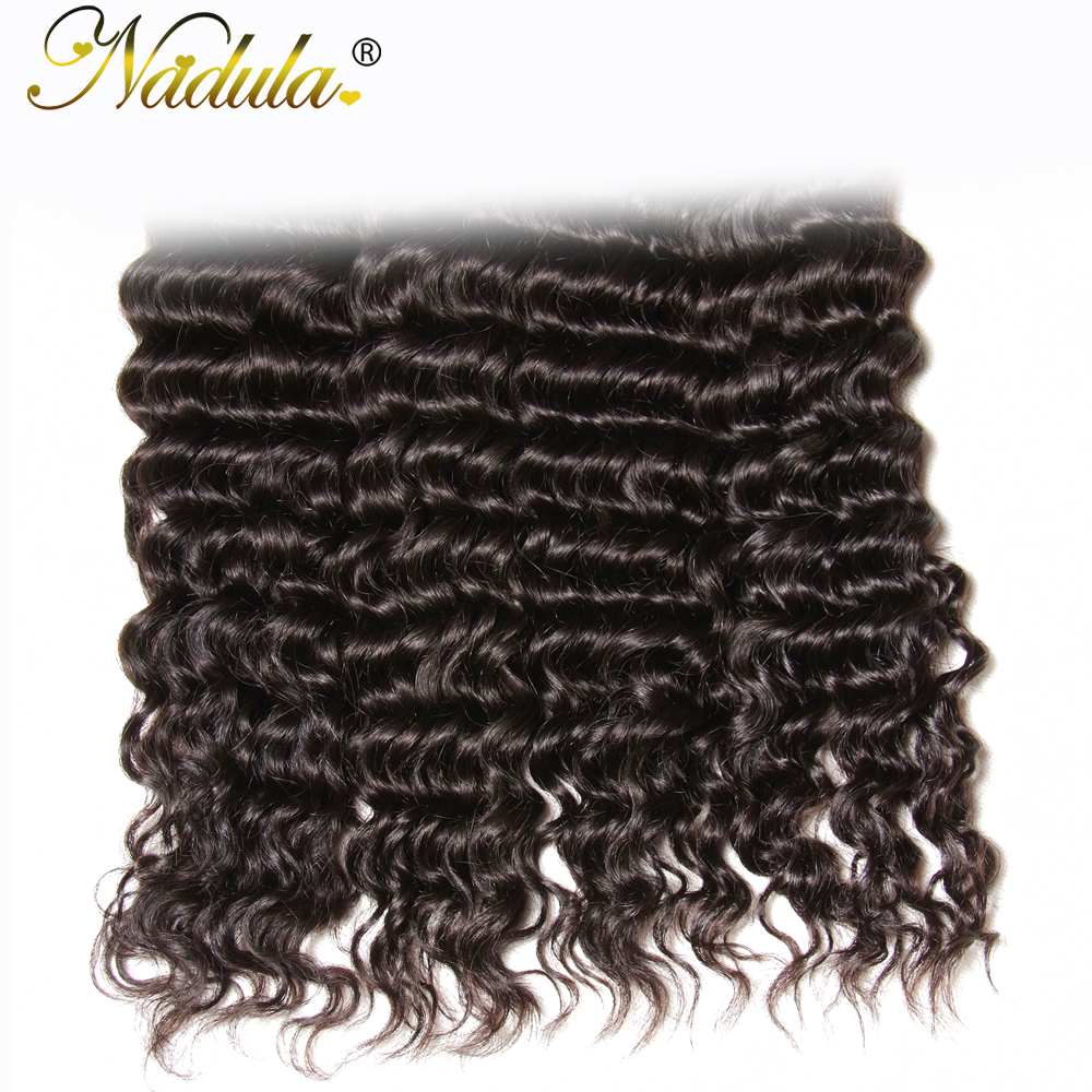 Nadula Hair 3Bundles/4Pcs Deep Wave  s 12-26inch  Hair Bundles Natural Color   5