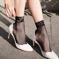 1 par de la venta Caliente de Las Mujeres Señoras de Las Muchachas Suaves Sexy Encaje Floral Corto Tobillo Mallas Calcetines Nuevos calcetines de mujer