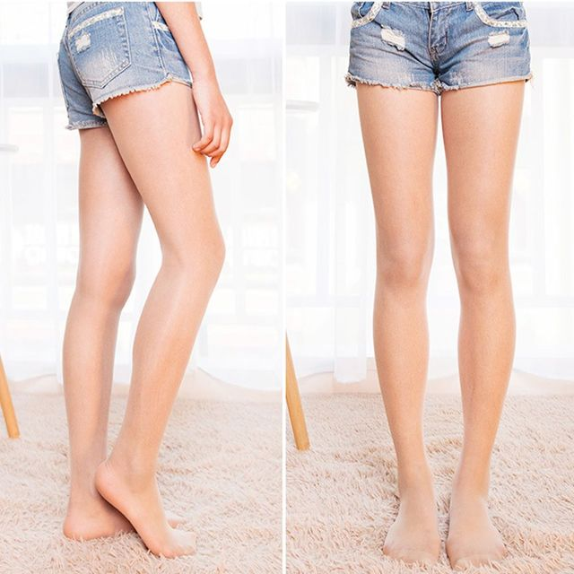 39d4b8cb801a2 1 PC NEW Fashion Women 8D Tights Stocking Sexy DIY Design Prevent Hook Silk  Thin Any Cut Pantyhose Black Nude Colors