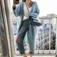 Hui Li Fa Autumn Winter Coat Fashion Women Long Sleeve Loose Knitting Cardigan Sweater Women Knitted Female Cardigan Pull Femme