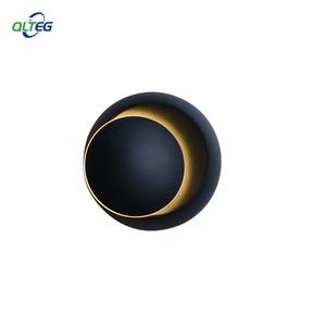 Image 1 - QLTEG 5W LED Wall Lamp 360 degree rotation adjustable bedside light 4000K Black creative wall lamp Black modern aisle round lamp