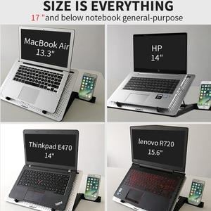"""Image 5 - Pad di raffreddamento Del Computer Portatile Ventola di Raffreddamento macbook air pro Notebook Rapido 11 """"12"""" 13.3 """"14"""" 15 """"15.6"""" 17 """"17.3"""" pollici regolabile Supporto laptop"""