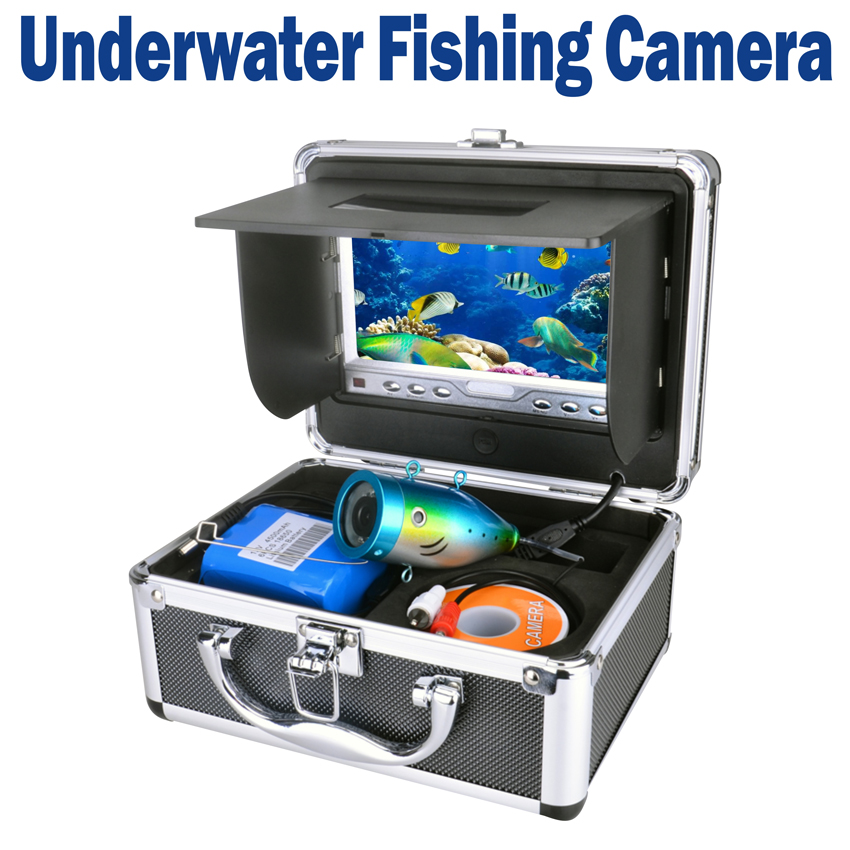 Portable delux kit underwater fishing camera video fish for Fishing line camera