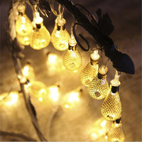 20LED Morocco Hollow String Light Outdoor Christmas Party Decor Lamp Free Shipping Wholesale A3