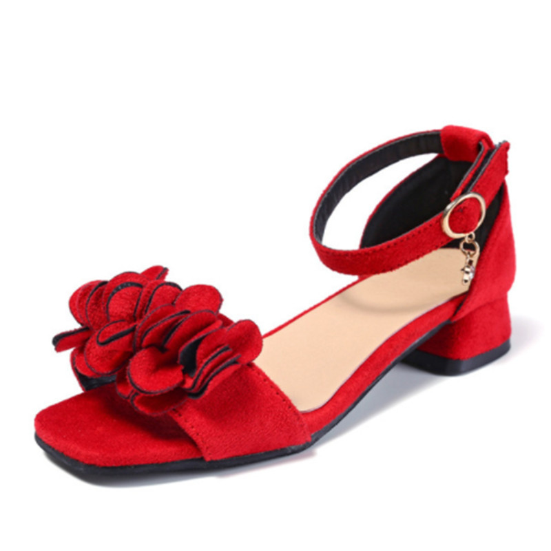 Fashion Girls Sandals Summer High Heels Kids Princess Shoes For Girls Peep-toe Children Party Wedding Sandals Shoes Size 27-37