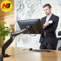 NB F85A Monitor Desktop-ständer Mechanische Frühling Heben TV Mount 22-32 zoll Langen Arm Full-Motion-LCD Halter Basis mit 2 USB Port