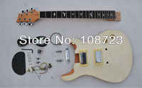 MPR01 PRS Style Custom Unfinished Electric Guitar Luhier Builder Kit Flame Maple Top