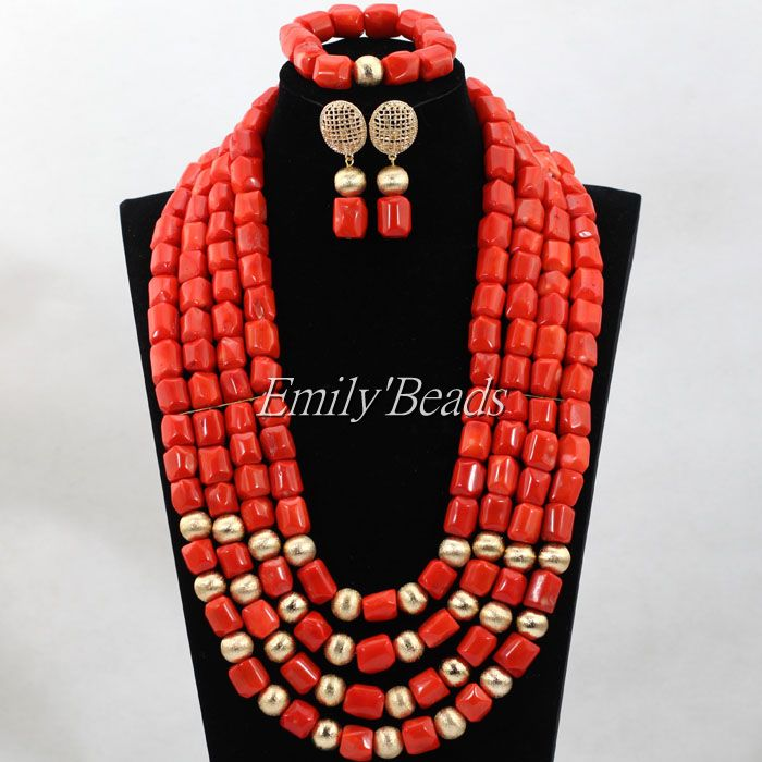 Splendida Rosa Donna Regalo Dei Monili Branelli di Corallo Africani Collana Nozze Insieme Nigeriano Sposa Indiana Statement Necklace Set CJ714Splendida Rosa Donna Regalo Dei Monili Branelli di Corallo Africani Collana Nozze Insieme Nigeriano Sposa Indiana Statement Necklace Set CJ714