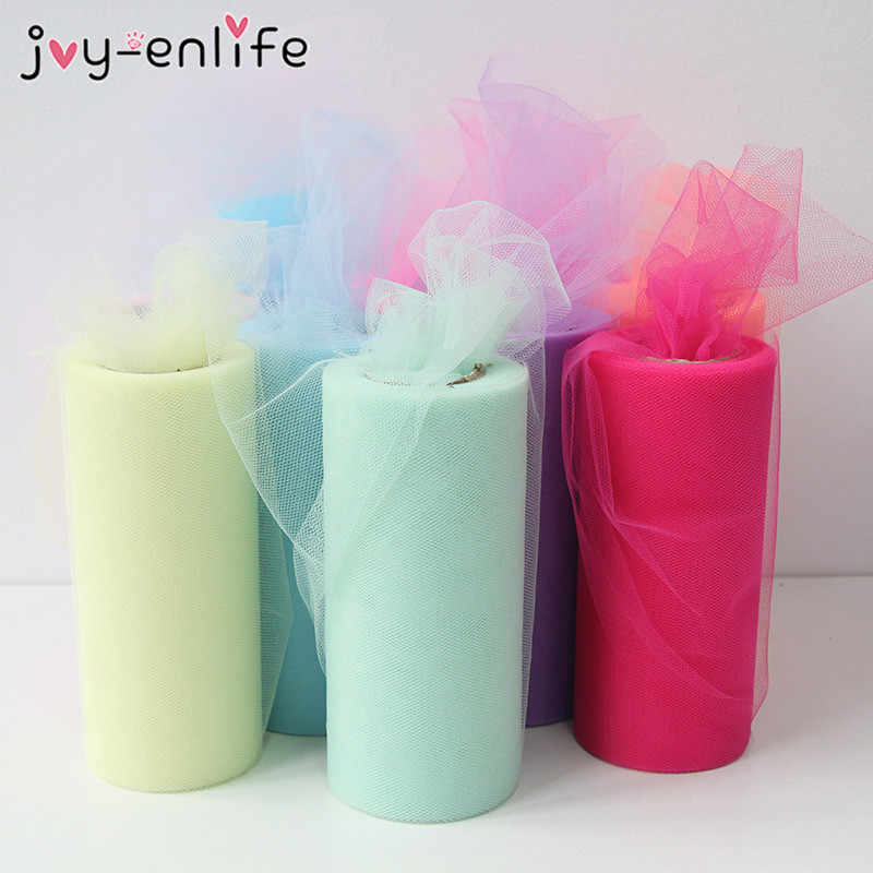 Tulle Roll 15cm 25Yards Roll Fabric Spool Tutu Party Baby Shower Birthday Gift Wrap Wedding Decoration Christmas Event Supplies
