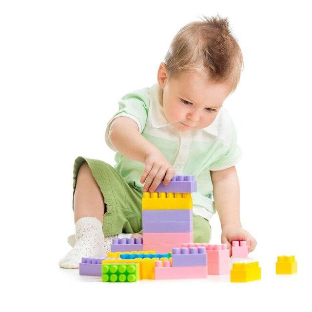 c7ffa16eb 144 Pcs Plastic Educational Toys For Children Building Blocks Bricks DIY Children  Kids Puzzle Toy Model