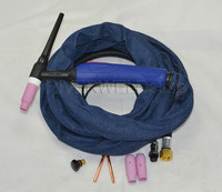 WP26-12E 12-Foot 200Amp Air Cooled TIG Welding Torch Complete 4-Meter 2 pins Connection Euro Style Torch Head Body