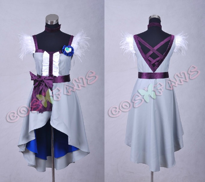 Free shipping Custom Cheap Cure Moonlight Cosplay costume dress from HeartCatch PreCure