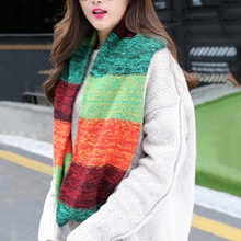 2017 Top Sell Fashion Mix Colors Ring Women Scarves Knitted Wool Neck Cowl Wrap Shawl Thicken Winter Warm Loop Scarf