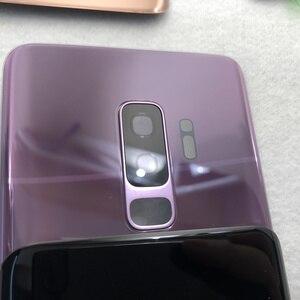 Image 3 - غطاء البطارية الخلفي الأصلي لسامسونج غالاكسي S9 Plus S9 + G960 G965 100% غطاء الباب الزجاجي الكاميرا الخلفية زجاج S9 الغطاء الخلفي
