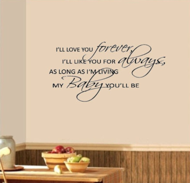 I Ll Love You Forever Book Quotes Amazing I'll Love You Forever My Baby You'll Be Nursery Wall Say Quote