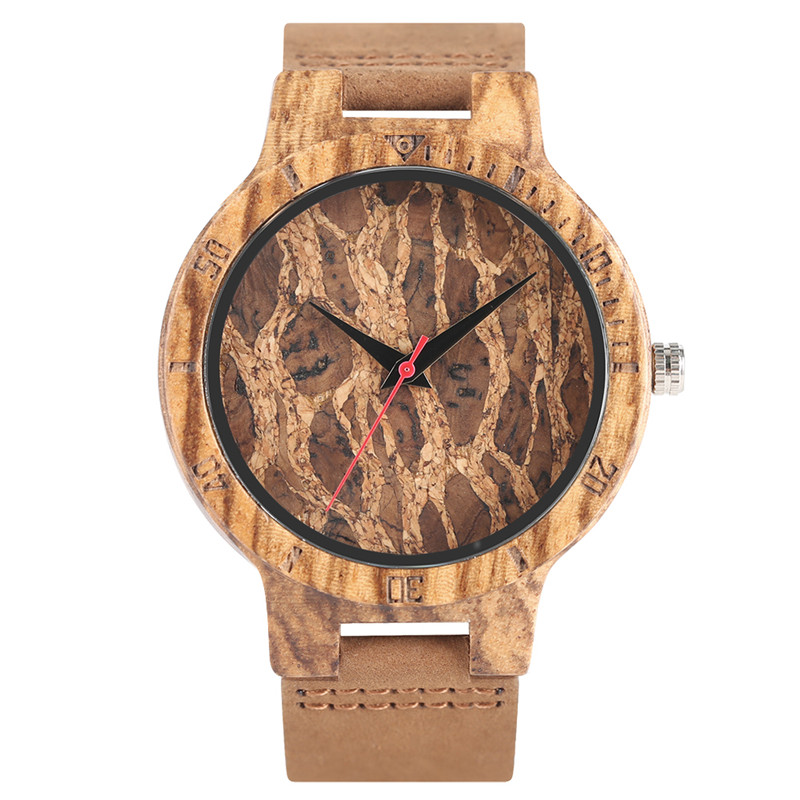 Nature Wooden Watch Handmade Analog Genuine Leather Band Strap Bamboo Bangle Simple Wrist Watch relogio masculino simple brown bamboo full wooden adjustable band strap analog wrist watch bangle minimalist new arrival hot women men nature wood