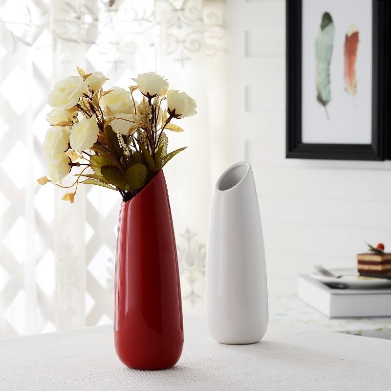 Creative Ceramic Fashion Red Vase Simple Modern Porcelain Living