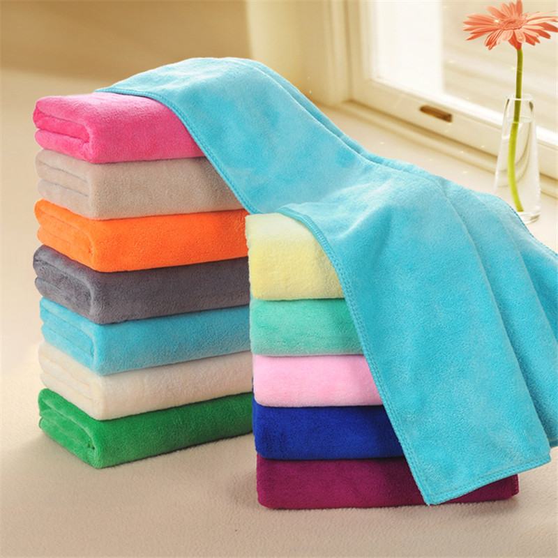 16 Colors Microfiber Fabric Towel Dry Hair Beauty Salons Barber Shop Special Towel Wholesale Super Absorbent Face Hand Towels in Hair Towels from Home Garden