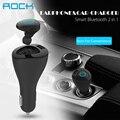Rock muca bluetooth v4.0 fone de ouvido & carregador de carro 2 em 1 fone de ouvido e carregador para andriod telefone/iphone/tablet/smart watch
