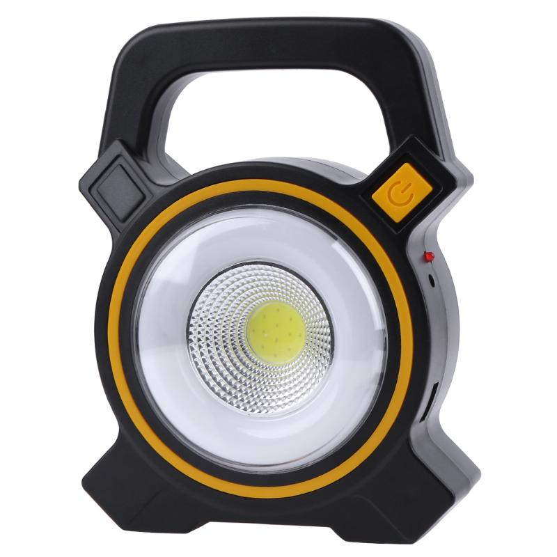 10W Yellow COB LED Outdoor Portable Lantern High Power Rechargeable Camping Lamp Work Light Night Fishing Searching Illumination10W Yellow COB LED Outdoor Portable Lantern High Power Rechargeable Camping Lamp Work Light Night Fishing Searching Illumination