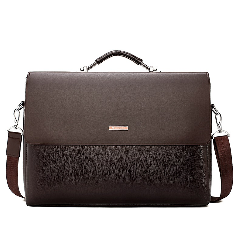 Famous Brand Business Men Briefcase Leather Laptop Handbag Casual Man Bag For Lawyer Shoulder Bag Male Office Tote Messenger Bag