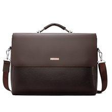 b8fd92c2d Famosa marca de los hombres de negocios maletín de cuero bolso Casual de  hombre bolso para