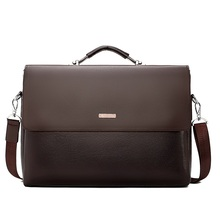 Famous Brand Business Men Briefcase Leather Laptop Handbag C