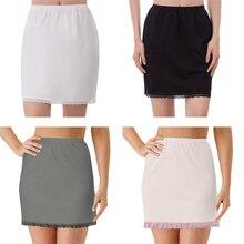 Юбка с подкладом, короткая юбка, женская летняя юбка с эластичной резинкой на талии, противопрозрачная юбка, молочные шелковые кружевные юбки, один размер