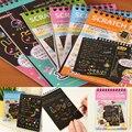 1 PCS Desenho Do Zero Raspagem Livro Pintura Crianças Brinquedo Educativo com Desenho Da Vara Dos Desenhos Animados Grafite DIY
