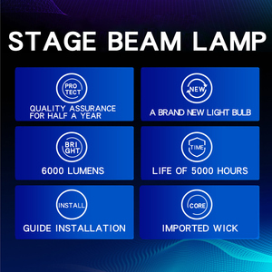 Image 5 - High Quality 1PC/Lot Replacement projector Lamp MSD PLATINUM 5R for BEAM 200W SHARPY MOVING Head beam light bulb stage light