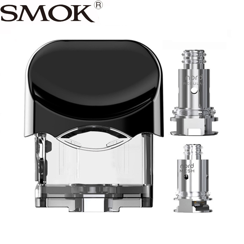 Nord pod with replacement mesh and regular coils for Nord kit 3ml SMOK nord  pod