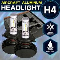 Oslamp led h4車の球根6500 kオールインワンhi-loビームh4 ledヘッドライトファンレス自動ランプsuv 50ワット8000lm cspチッププラグ·アンド·プレイ