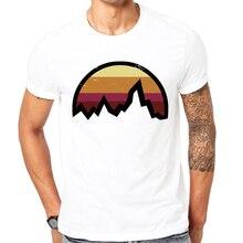 Summer Popular T-shirt men clothing top quality fashion men's t shirt vintage mountain sun icon printed casual t-shirt men brand