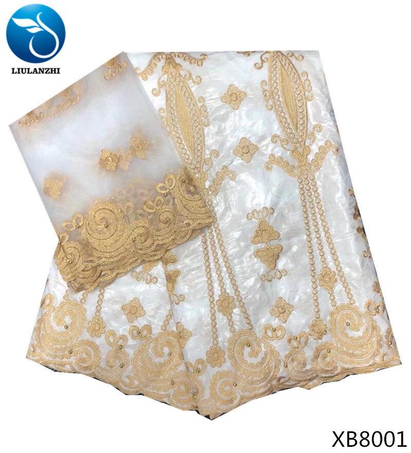 LIULANZHI bacia branca tecido de algodão tecidos guiné tecido brocado getzner bazin tecido material de pano metros de 7/lot XB80
