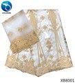 Tela Blanca LIULANZHI telas de lavabo de algodón tela de brocado de guinea material de tela getzner 7 yardas/lote XB80