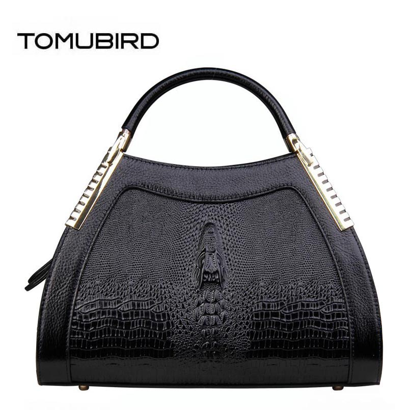 TOMUBIRD 2018 new superior Cowhide Fashion Crocodile luxury handbags women bags designer women bag genuine leather handbags