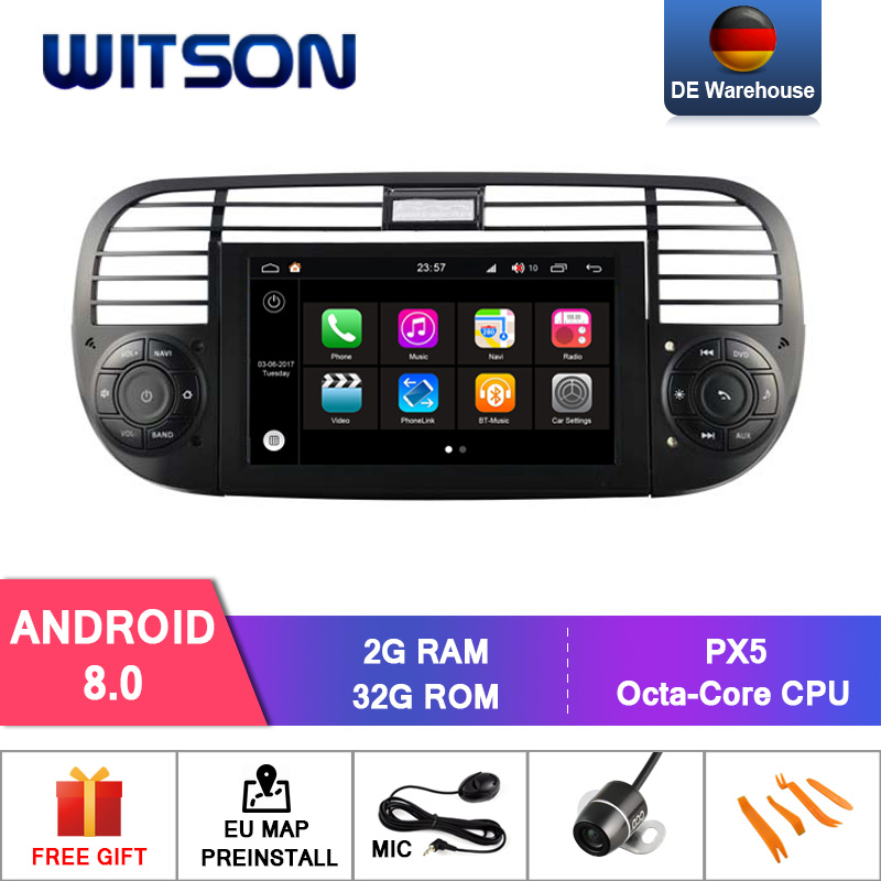 WITSON S200 Android 8 0 Octa core Eight core CAR DVD PLAYER GPS For FIAT 500
