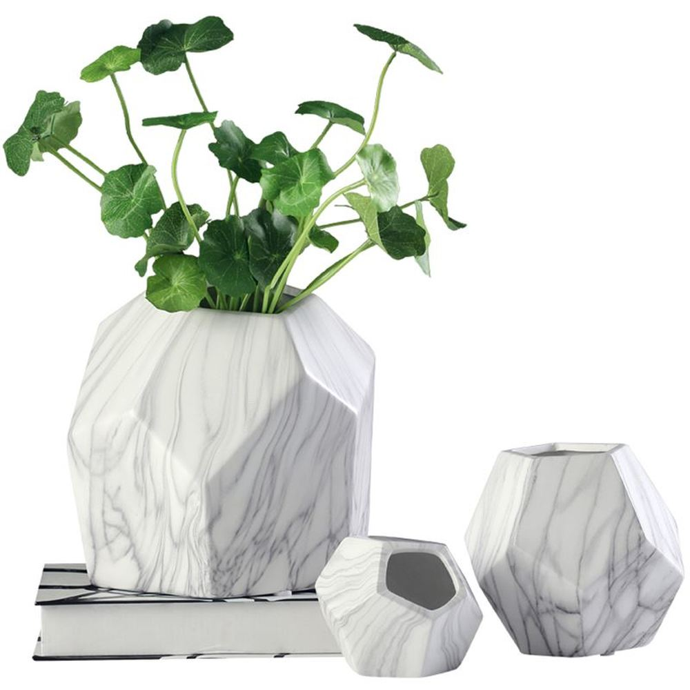 Decorative vase decoration living room flower TV cabinet small fresh marble small fresh dry vase AP5111539