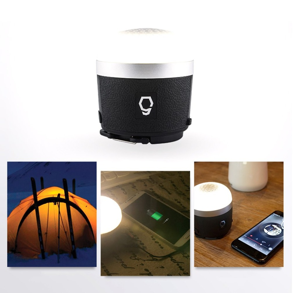 Outdoor Camping Light Bluetooth Speaker Emergency Light Tent Lamp Mobile Power Bank Music Player