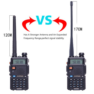 Image 2 - 2 adet Baofeng walkie talkie uv 5r dual band iki yönlü telsiz VHF/UHF 136 174MHz & 400  520MHz FM taşınabilir telsiz kulaklık ile