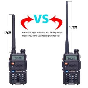Image 2 - 2 pcs baofeng walkie talkie uv 5r dualband rádio em dois sentidos vhf/uhf 136 174 mhz & 400 520 mhz fm transceptor portátil com fone de ouvido