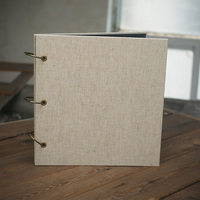 12-Inch Loose-Leaf DIY Handmade Linen Surface Self-Adhesive Album 27*26CM 20 Sheets 40P Baby Album Para Scrapbook