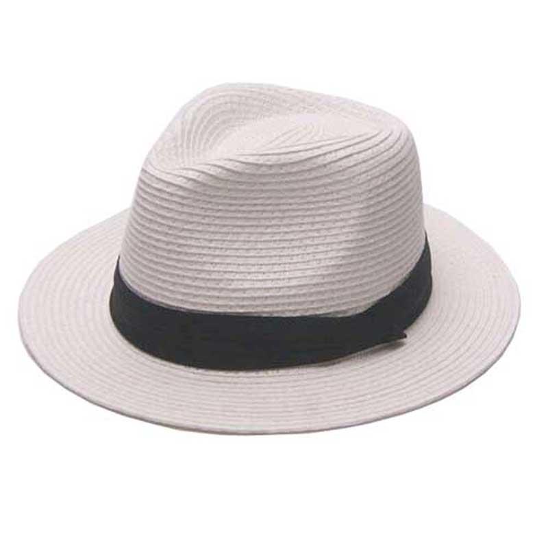 Online Shop Bulk Hats 12pcs Lot Classic Mens White Straw Fedora Hats NEW  Women Black Paper Straw Hat Men Plain Summer Beach Sun Trilby Caps  2c507195c93