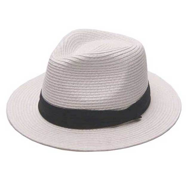 822584e3bc4088 Bulk Hats 12pcs/Lot Classic Mens White Straw Fedora Hats NEW Women Black  Paper Straw