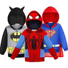 Batman Thor Superman Boys Hoodies The Avengers Captain America Iron Man Sweatshirt Coat For Boy Girl