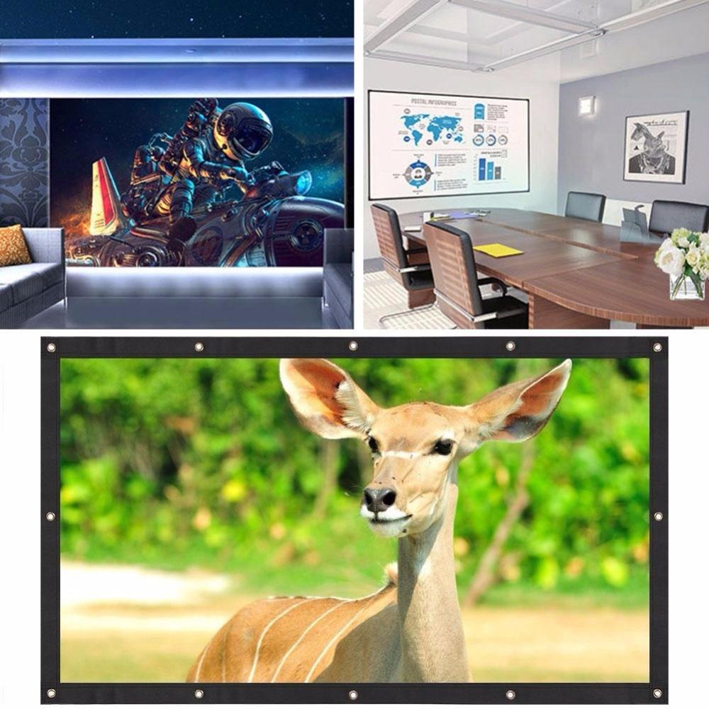 120 дюймов проекционный экран Moviescreen школьный домашний проекционный занавес мягкий портативный 16:9 аксессуары для проектора видеопроектор