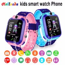 Hollvada GPS Smart Kid Watch IPX7 Waterproof Smart watch SOS Phone Call Device Location Tracker Childs Safe Anti-Lost Monitor(China)