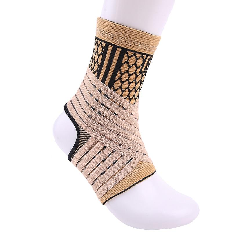 Hoge elastische bandage compressie breien sportbeschermer basketbal voetbal enkel ondersteuning brace guard gratis verzending # ST3779